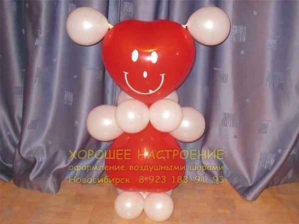 Подарки из воздушных шаров. букеты и композиции шаров