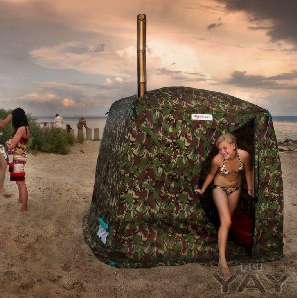 Мобильные (походные) бани и отапливаемые палатки.