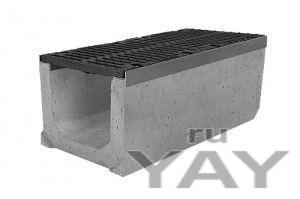 Лотки водоотводные бетонные с решетками
