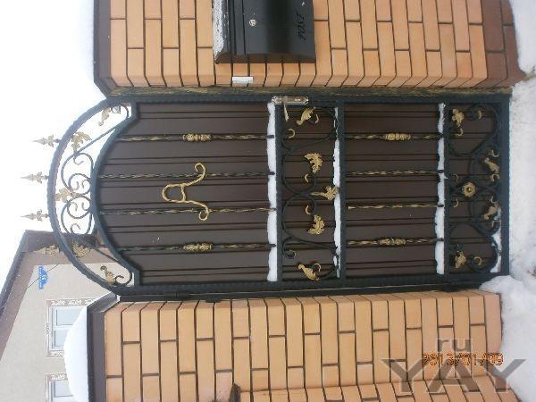 Заборы из проф листа,кованные ворота