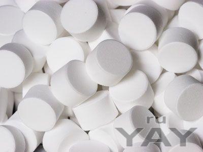 Соль таблетированная для водоподготовки. таблетки фильтра умягчения воды