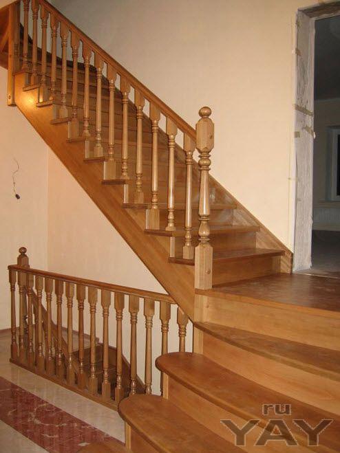 Лестницы из дерева для коттеджей - изготовление под заказ.
