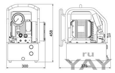 Автоматическая гидравлическая маслостанция torc|tech с электроприводом серии klw4100