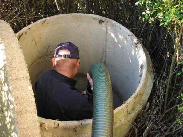 Установка септика жб под ключ.водопровод