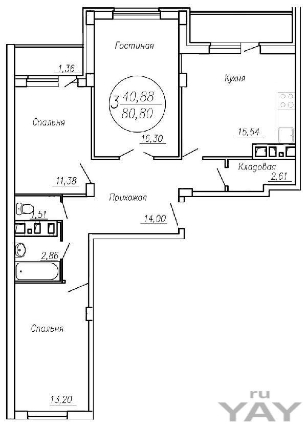 Продам 3-комнатную квартиру в строящемся доме