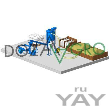 Линия производства гранулированных кормов mini