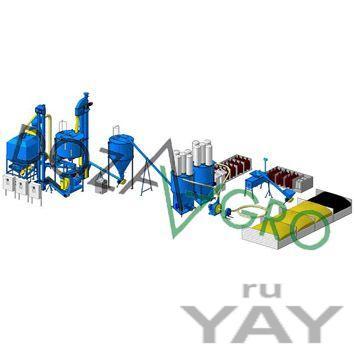 Линия производства рассыпных и гранулированных кормов