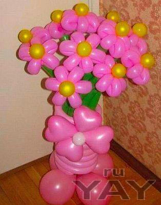"""Букеты цветов из шаров. звоните. арт-студия  - праздник"""""""