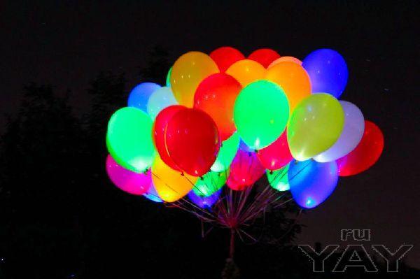 Заказать светящиеся в темноте шары  недорого.