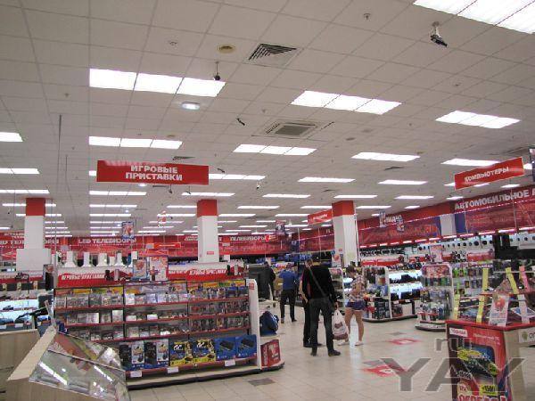 Освещение сети гипермаркетов электронной техники «поиск»
