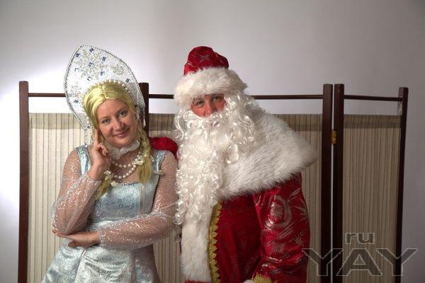 Дед мороз и снегурочка. тамада. шоу мыльных пузырей.