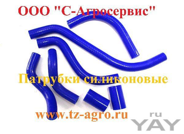 Патрубки силиконовые синего цвета