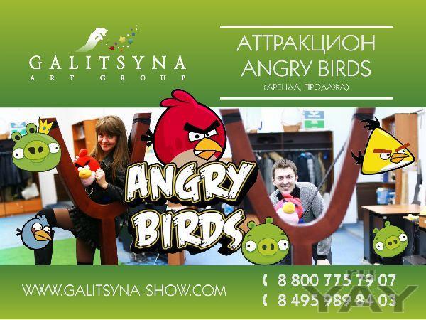 Аттракцион angry birds для вашего мероприятия