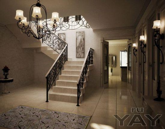 Лестница на второй этаж для коттеджа и частного дома