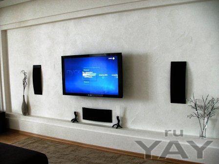Крепление кронштейна на стену телевизор плазменная панель