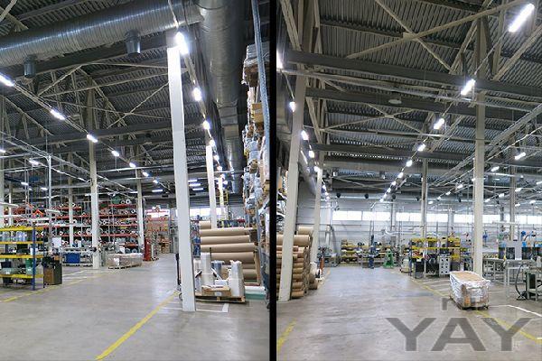 Освещение производственных и складских территорий компании «хабазит», г. долгопрудный